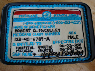 I could have sworn the receptionist asked for my Medicare CAKE!